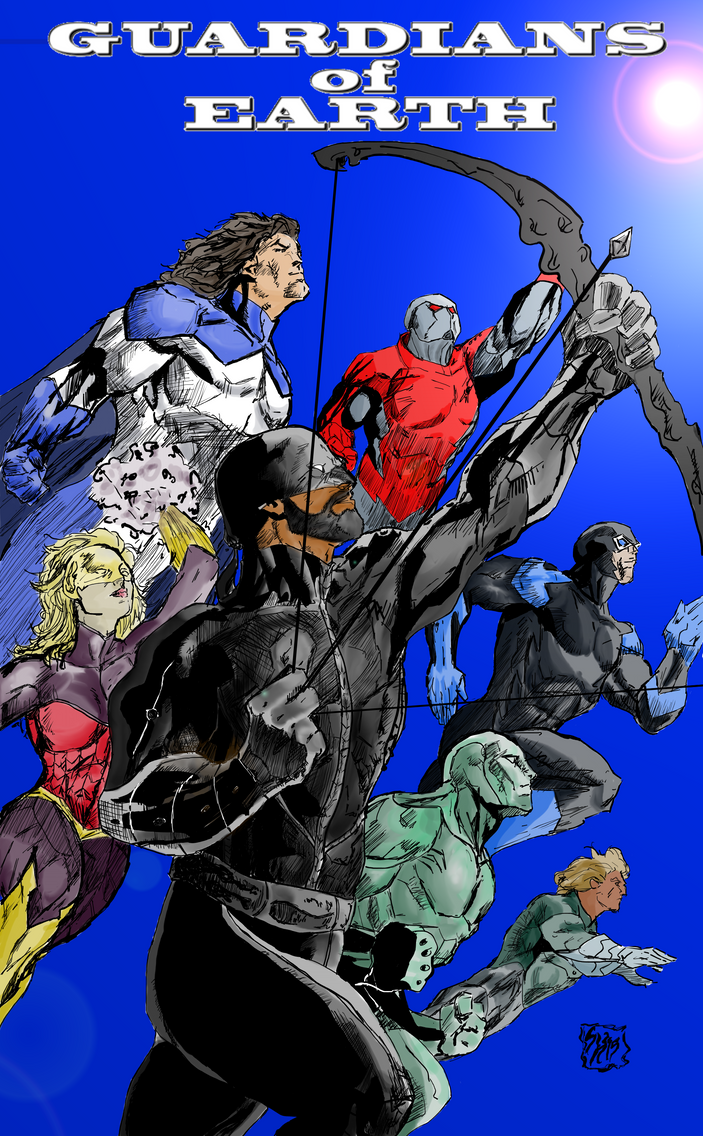 Guardians Of Earth Issue 1 Now in Technicolor by g-kwan155