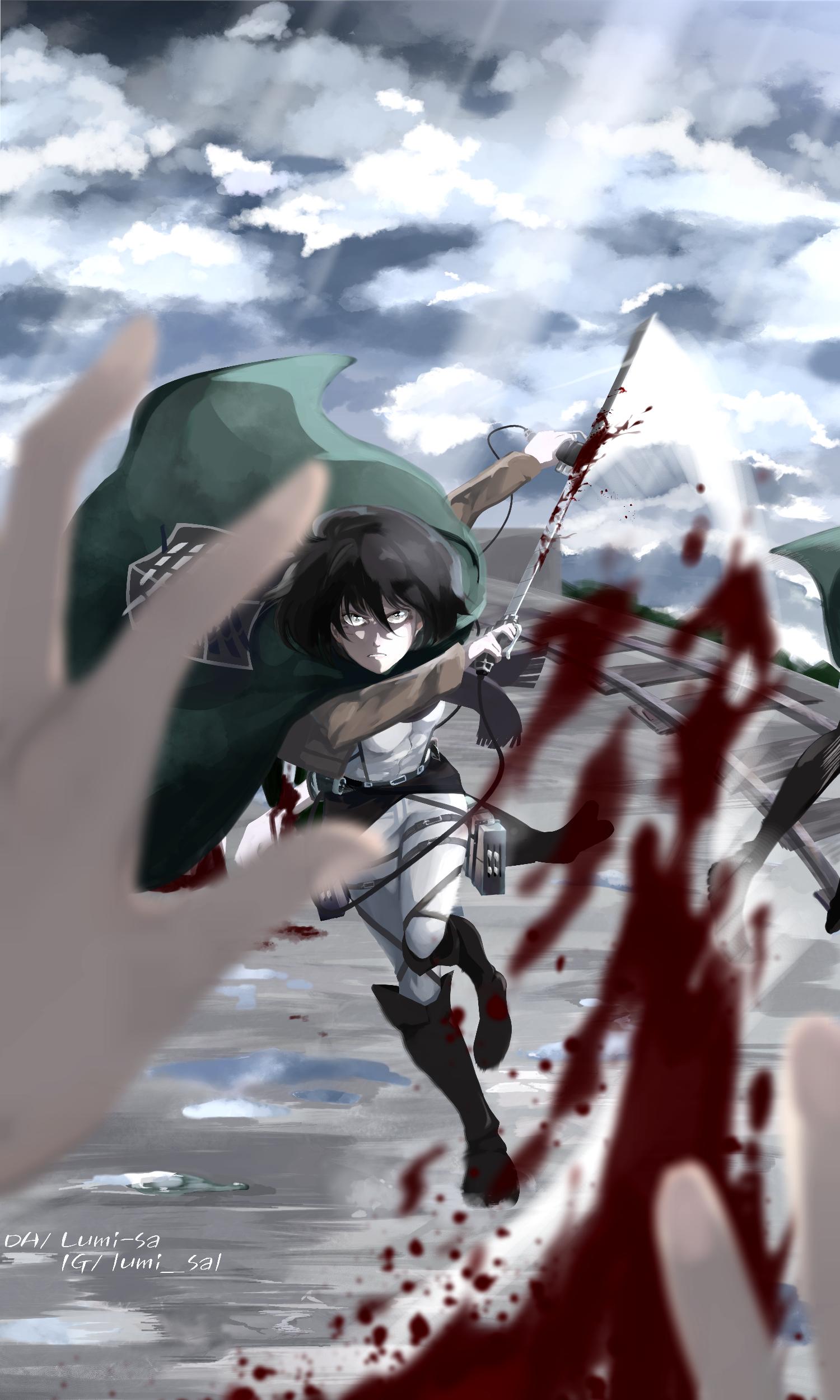 Mikasa Ackerman Shingeki No Kyojin 2 Fanart By Lumi Sa On