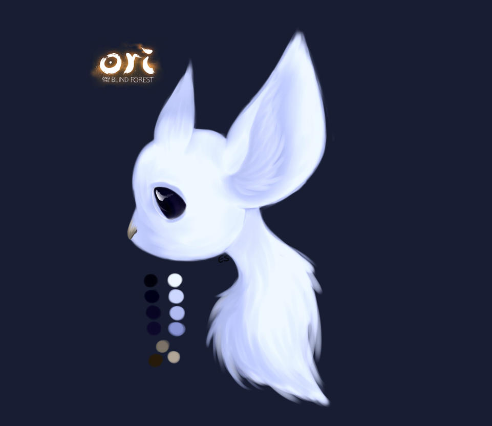 Ori and Blind Forest practice by SecondSaria