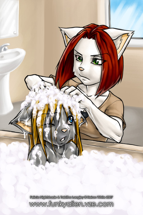WS - Bath Time by funkyalien