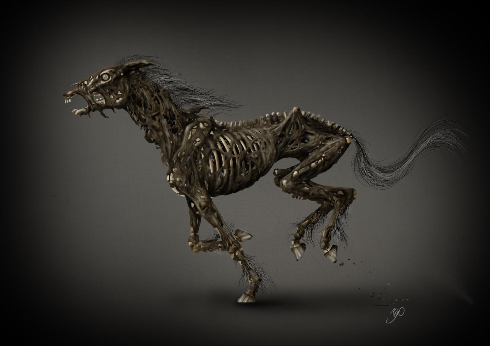 "Caos x Ordem, Missão 1: ""Como senti falta dessas correntes."" Death_horse_by_bedeekin-d5kxpoz"