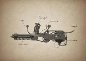 Steam powered horseshoe rail gun by BenPhillips