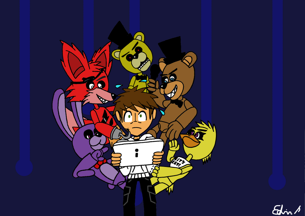 Five Nights At Freddy's Ft. EdvinDraw by EdvinDraw