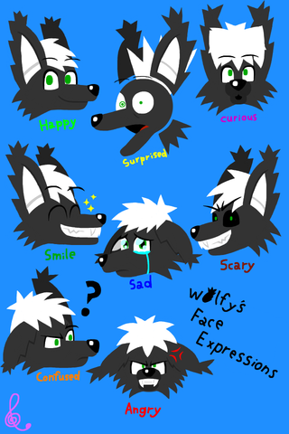Wolfy's Face Expressions 2 by EdvinDraw