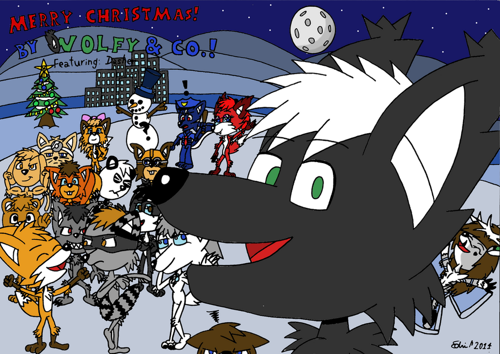My Christmas Card 2014 ft. Dasher by EdvinDraw