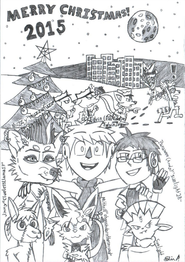 My Christmas Card 2015 by EdvinDraw