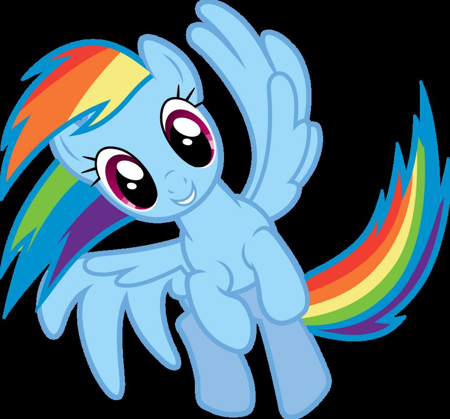 Rainbow Dash Spinning by Powerpuncher