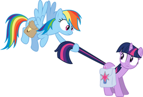 Rainbow Dash and Twilight Sparkle - Awkward by Powerpuncher
