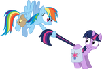 Rainbow Dash and Twilight Sparkle - Awkward