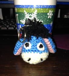 Eeyore Crochet Keychain by ShadowMark158
