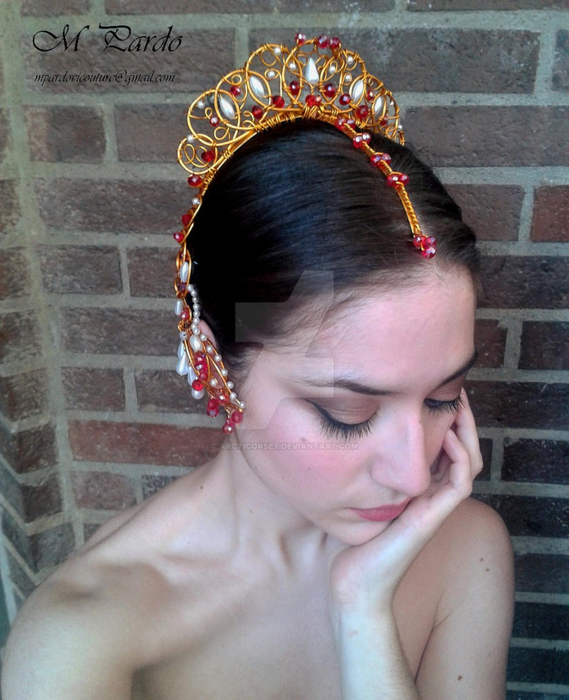 Ballet headpiece -Indian inspired tiara -Bayadere by arcticorset