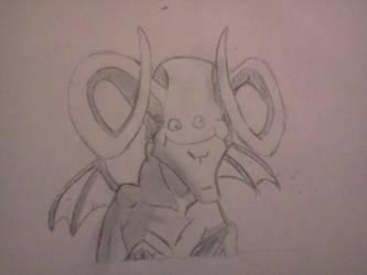 5 minute doodle:satan by hintoncole