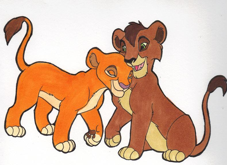 Kiara and Kovu Cubs by Kainaa on DeviantArt