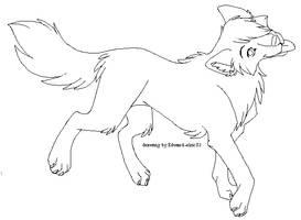 Free Wolf Line Art by Kainaa