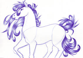 Horse Doodle by Kainaa