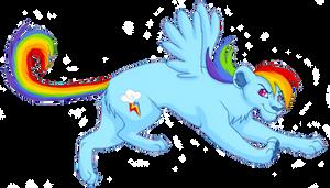 Rainbow Dash Lioness