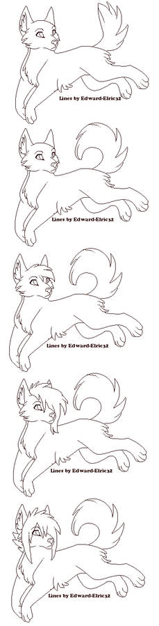 Wolf Free Line Art