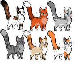 Cat Adoptables by Kainaa