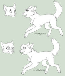 Wolf Line Art