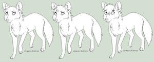 Free Fox Line Art