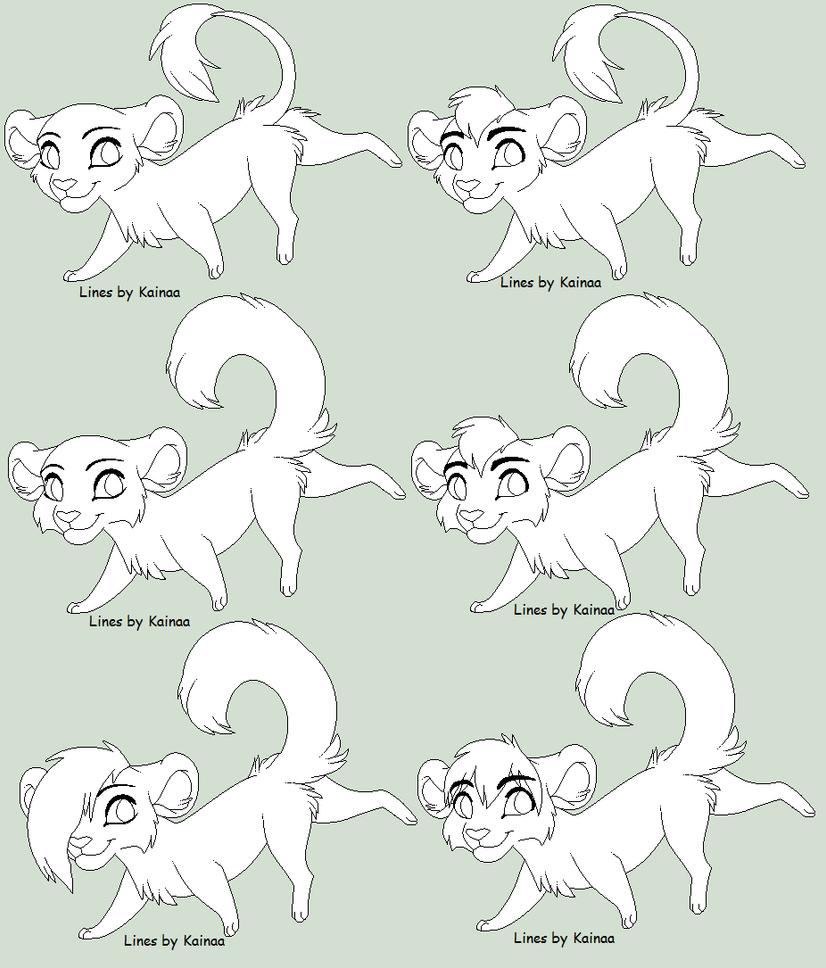 Chibi Feline Base by Kainaa