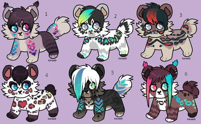 March Adopts 2018 (Open) Bob tails! (lowered) by Kainaa