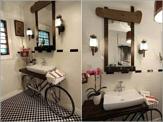 Recycling deco bathroom by photo lili on deviantart for Accessoires salle de bain theme mer