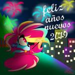 happy new year 2019 by fernandasparklee