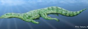 Qianosuchus by NTamura by Eoscorpiidae