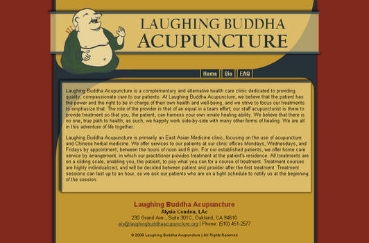 Laughing Buddha Acupuncture web design