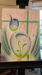 oil pastel, work in progress