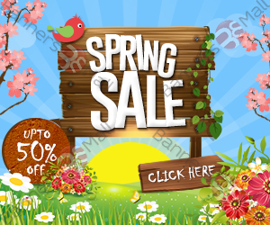 Banner for Spring Sales 300X250 by webbannerdesign