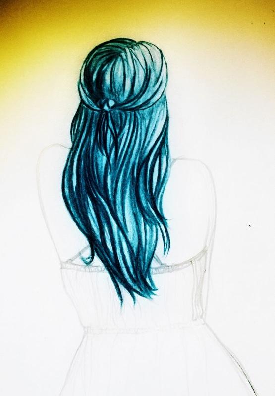 Blue hair by Pamorina