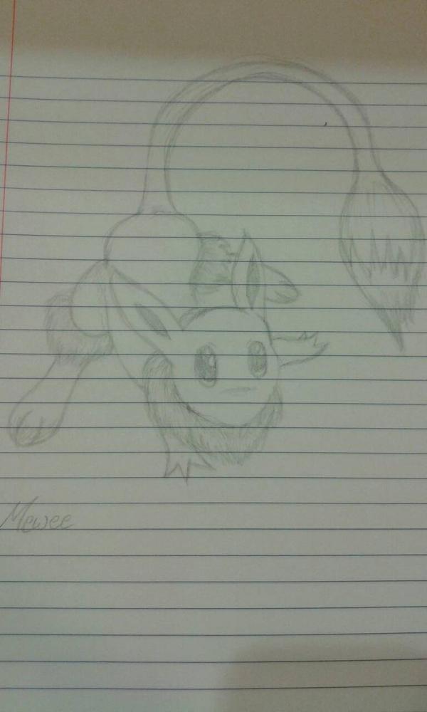 Pokemon fusion: Mew + Eevee by cereza13