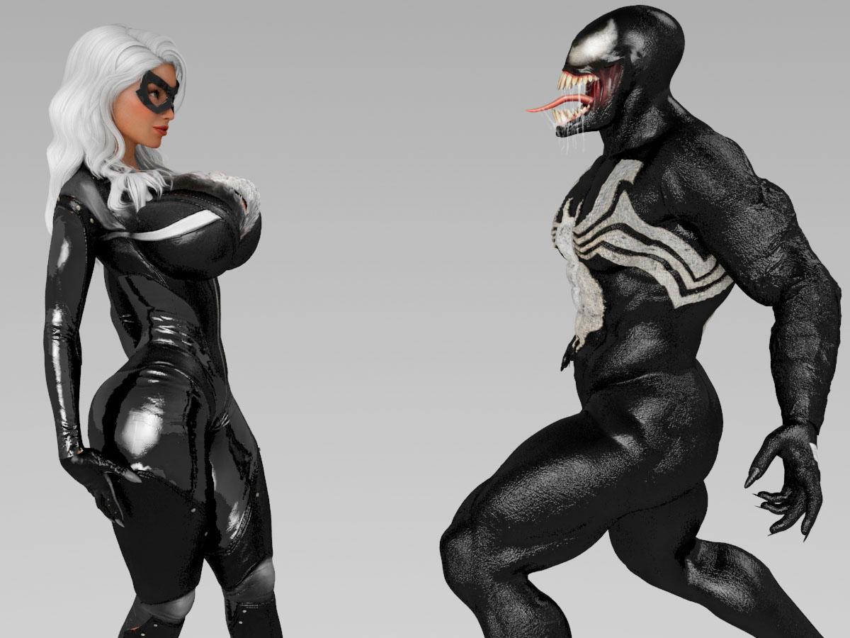 Black Cat Marvel Symbiote