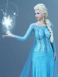 Queen Elsa Realistic 3D Cosplay