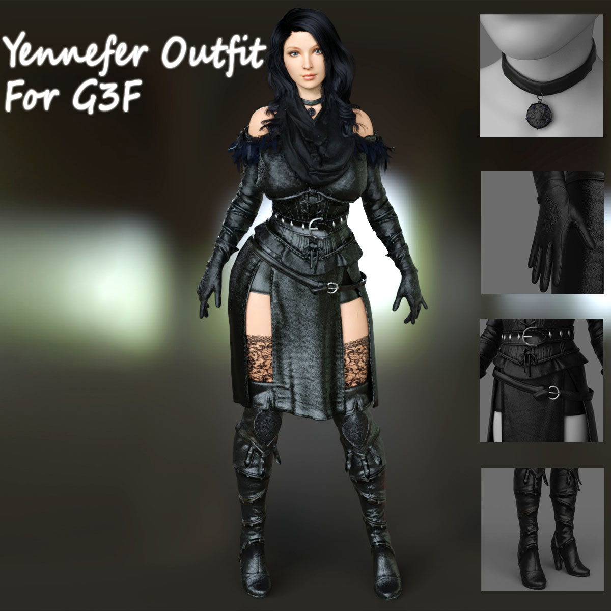 Yennefer Outfit For G3F.