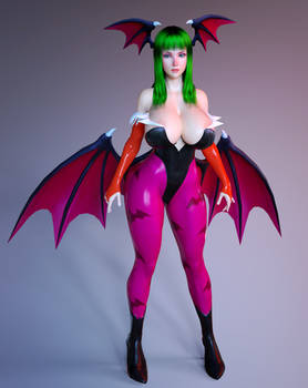 Morrigan Outfit for Genesis 3 Female (3D Cosplay)