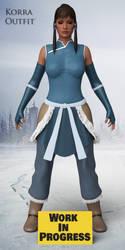 Avatar Korra Outfit (WIP) by guhzcoituz