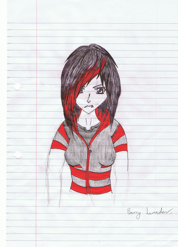 red emo by BazaVamp