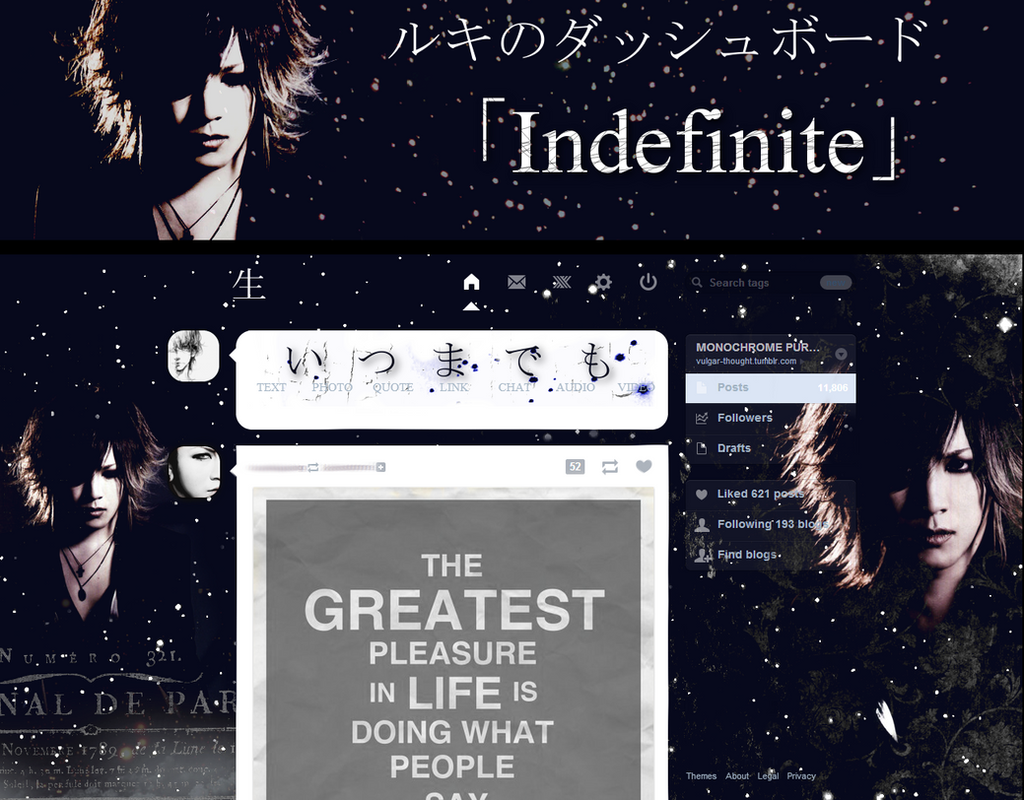 Ruki Dashboard Theme - Indefinite by vulgar-thoughts