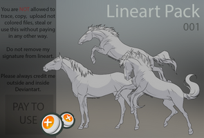 Horse lineart pack 001 by HorRaw-X