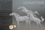 Horse lineart pack 001
