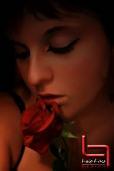 Girl and rose by Luizlima85