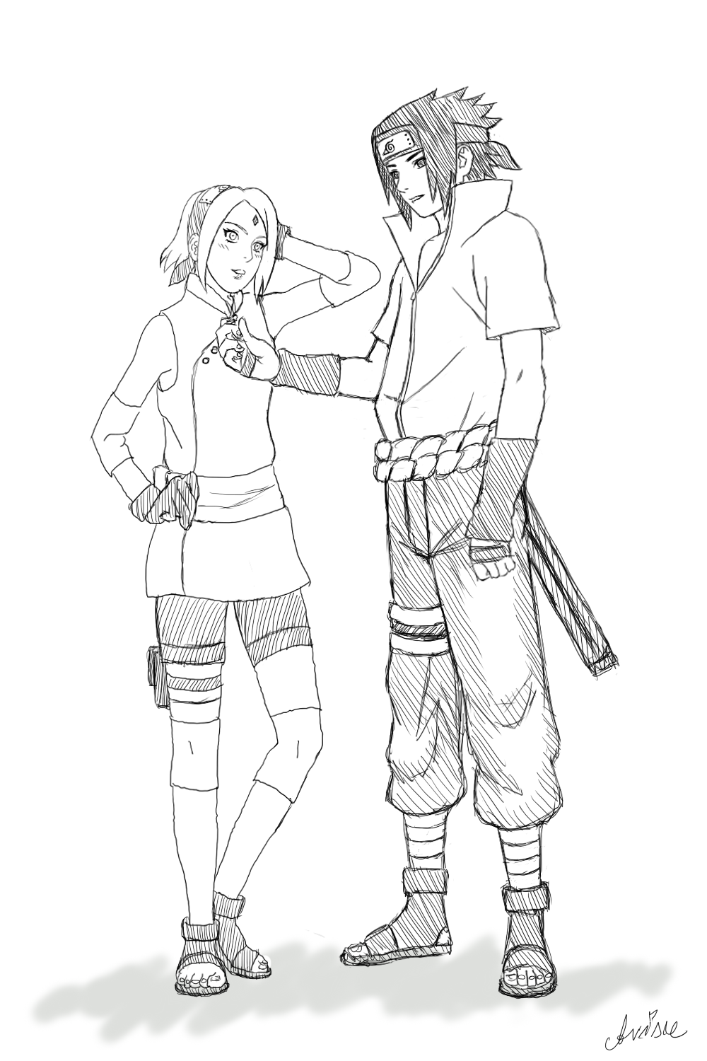 The Last movie - SasuSaku sketch by ArisuAmyFan on DeviantArt