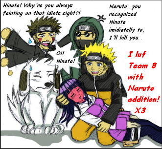 Team8 and Naruto: My web cam by ArisuAmyFan