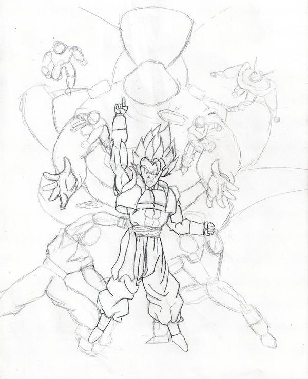 How to draw dbz fusion