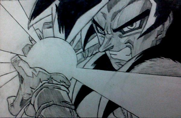 Goku Kamehameha. by YoungTalent93