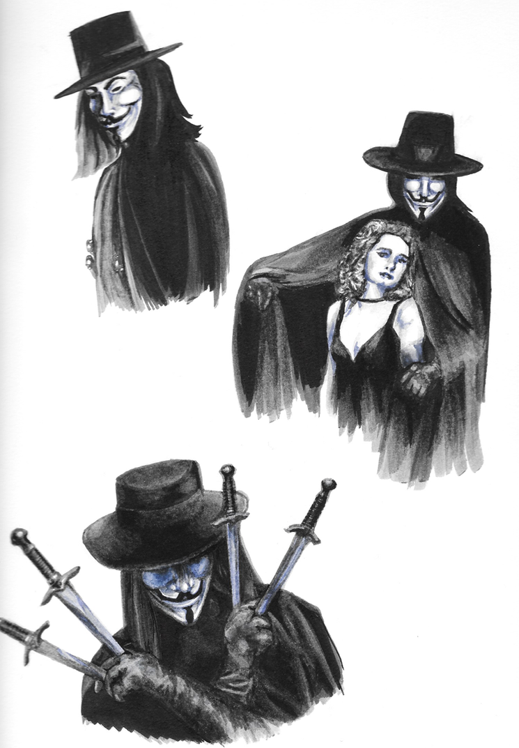 V for Vendetta sketch dump by iSk8er95