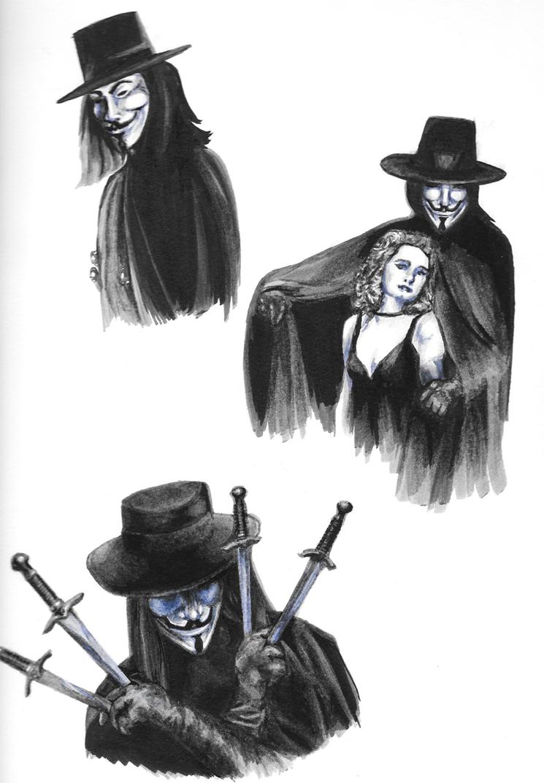 V for Vendetta sketch dump by iSk8er95